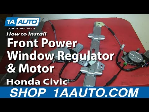 How to install replace front power window regulator 200 for 2001 honda civic window regulator replacement