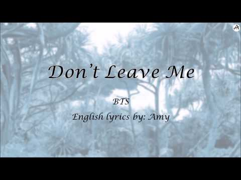Don't Leave Me - English KARAOKE (Piano Instrumental) - BTS