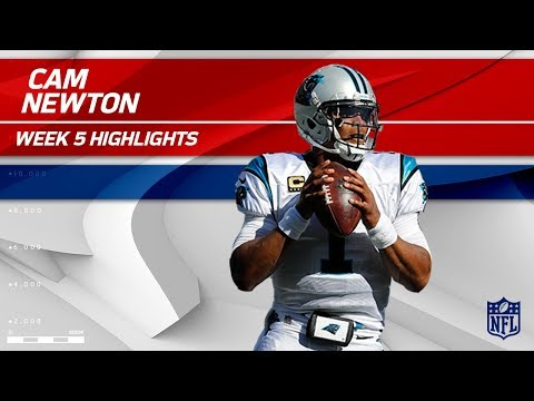 Cam Newton Highlights | Panthers vs. Lions | Wk 5 Player Highlights