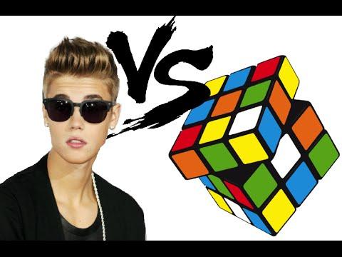 Justin Bieber VS Rubix Cube  - (240p)
