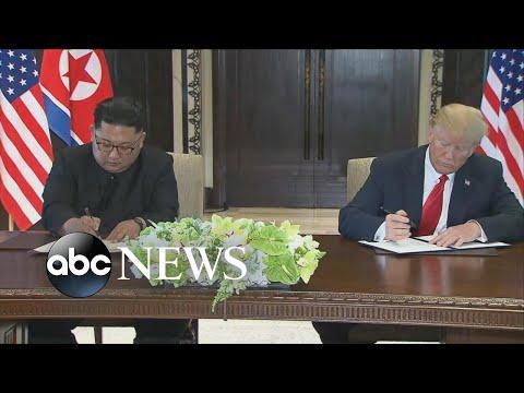 Trump, Kim Jong Un sign undisclosed 'important' document