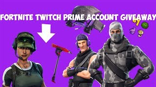 *HURRY UP* FORTNITE TWITCH PRIME ACCOUNT GIVEAWAY( read description)