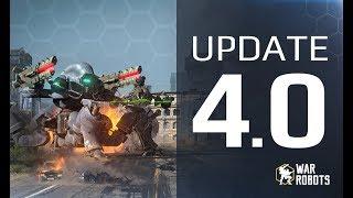WAR ROBOTS 4.0 🔥 👉 GAME CHANGER WR update 👈 HEALING ROBOTS, new event, map ROME, BOOSTERS & MORE!