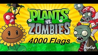 Plants vs Zombies Android 4000 Flags Survival Endless Completed (NO HACKS AND CHEATS).