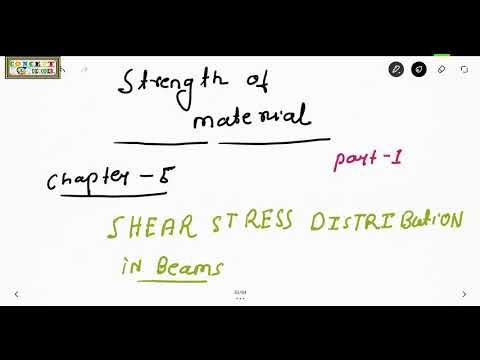 SOM, CHAPTER5, SHEAR STRESS DISTRIBUTION, DERIVATION OF GENERAL DISTRIBUTION FORMULA