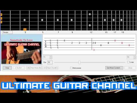Guitar Solo Tab] Somebody To Love (Queen/Glee Cast) - YouTube