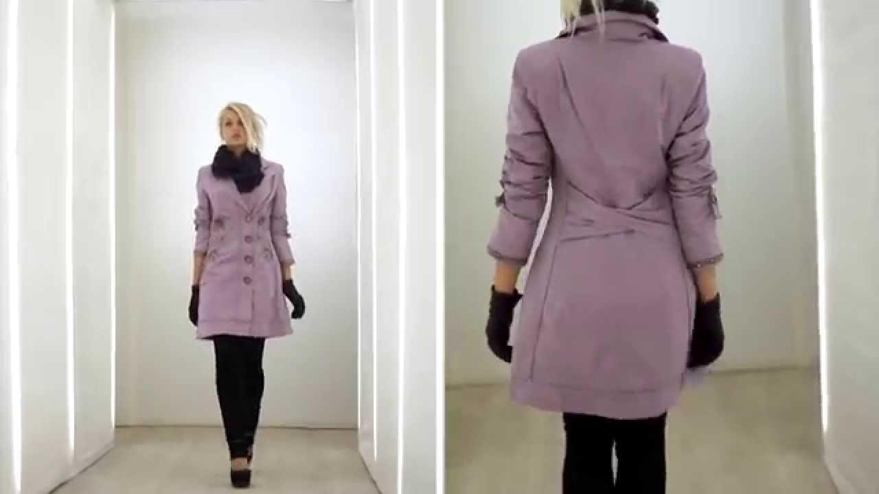 Пальто с меховым воротником. С чем его носить? - YouTube