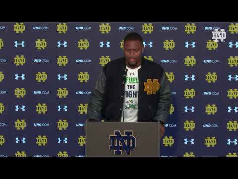 @NDFootball | Daelin Hayes Post Game Press Conference vs. Florida State (2018)