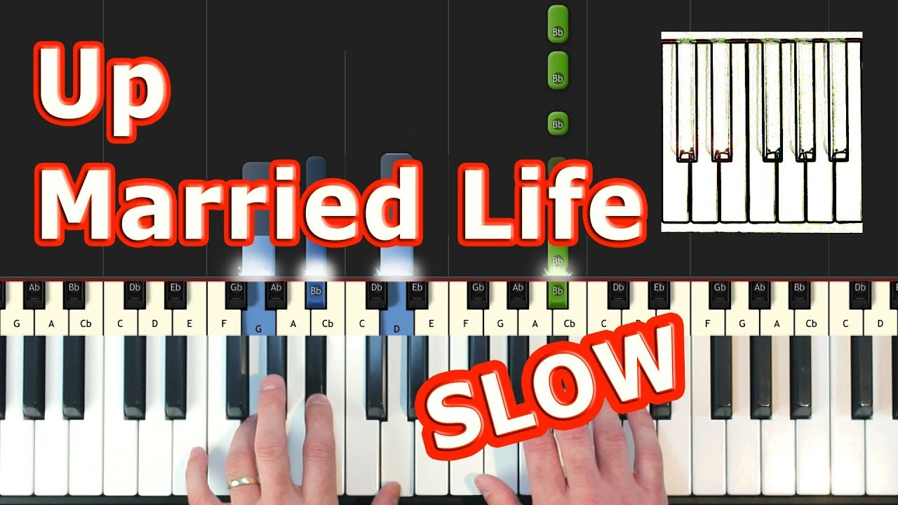 Married Life - Up - Piano Tutorial Easy SLOW - How To Play (Synthesia) -  Pixar