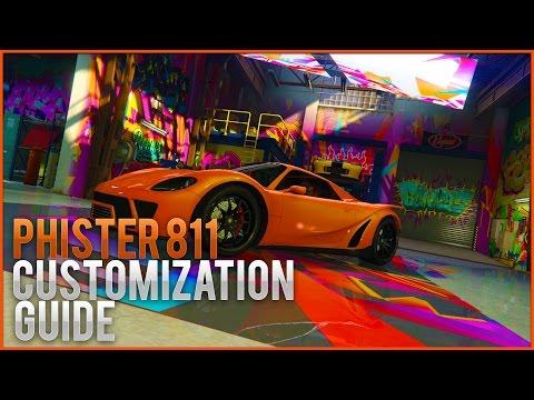 PFISTER 811 TOP 5 PAINT JOBS!! (GTA V Customization Guide)