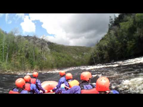 JonesCAM HD Advantage captures Hudson River rafting trip from guides JonesCAM HD helmet cam