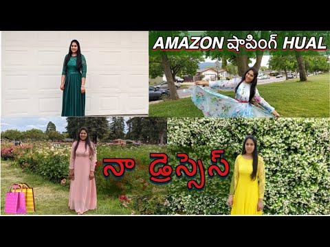my-amazon-dresses-haul-in-telugu
