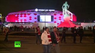 Болельщики «Спартака» после церемонии награждения на «Открытие Арене»