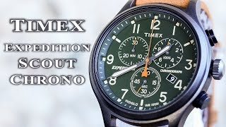 Timex expedition scout chrono TW4B04400 review