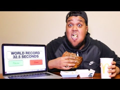 Fastest To Eat McDonalds Meal Wins £1,000 (WORLD RECORD)