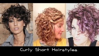 Short Curly Hairstyles for Round Faces Black Women 2018