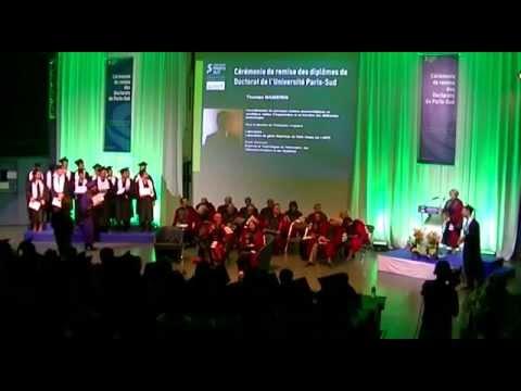 Ceremony for Doctoral Graduates University of Paris-Sud France 1/2