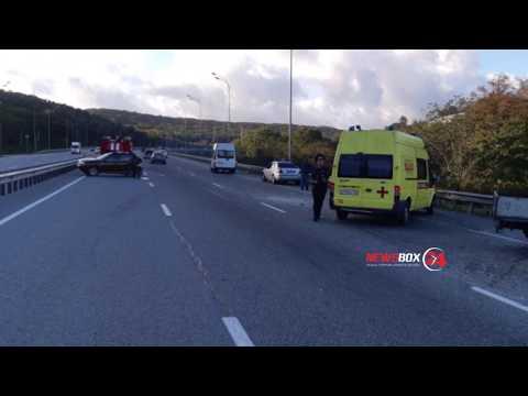Массовая авария с участием пассажирского автобуса произошла в Приморье