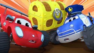 Детские мультики с грузовиками Ловушка Маверик из городка Монстр Траков Car City World App