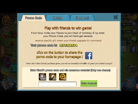 Clash Of Zombies 2 New Promo Code System Youtube