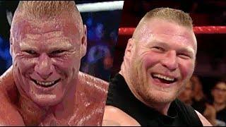 عندما يقلد بروك ليسنر المصارعين بسخريه - الأندرتيكر ❌كين❌ذا روك ❌ جون سينا