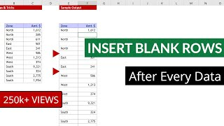 Inserting Blank Rows In Between Data Rows