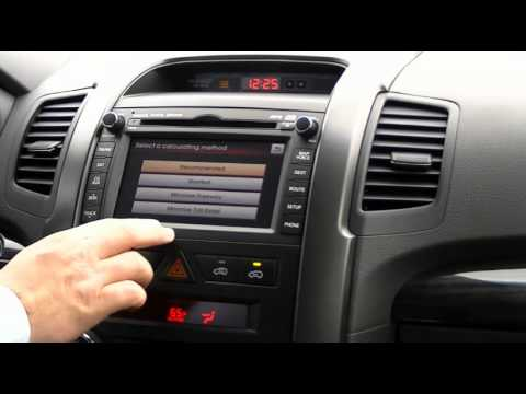 How to use the Navigation System - 2012 Kia Sorento