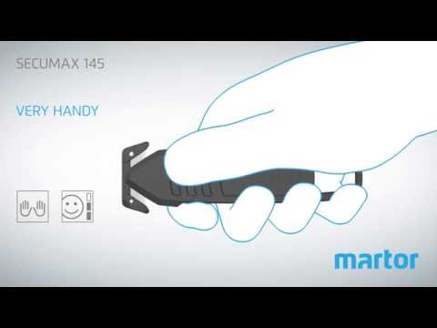 Safety knife MARTOR SECUMAX 145 product video GB