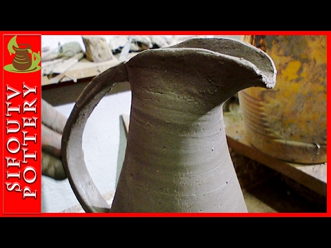 Pottery for Beginners - How to make a Pottery Jug with handle ep 13