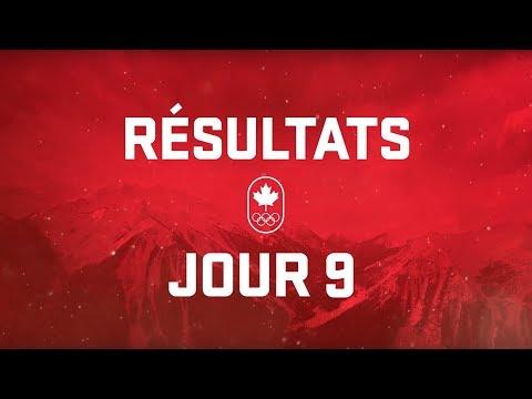 Résultats du jour 9 - Équipe Canada
