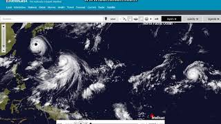 Typhoon Soulik, Typhoon Cimaron, and Hurricane Lane 8/20/2018 Satellite View