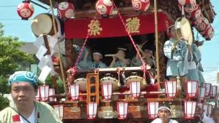 関東一の祇園 熊谷うちわ祭2016 初日 石原区の屋台.