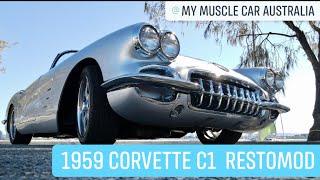 Corvette C1 restomod fly over