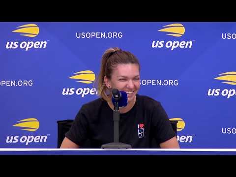 Simona Halep at US Open media day
