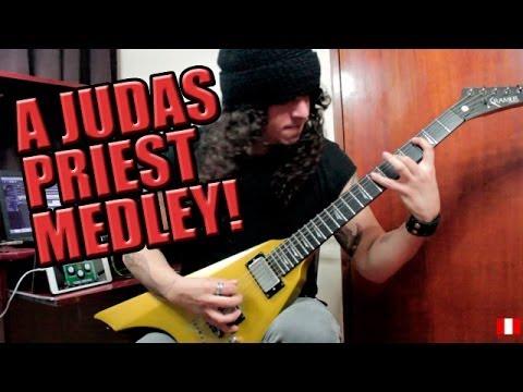 A Judas Priest guitar medley!!!