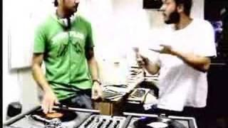 dj toff and mc greg jamming at work!
