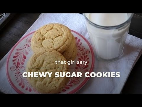 Chewy Sugar Cookies Recipe // that girl sary