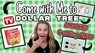 Come with me to DOLLAR TREE   AMAZING NEW FINDS   CRAFTERS SQUARE Aisle