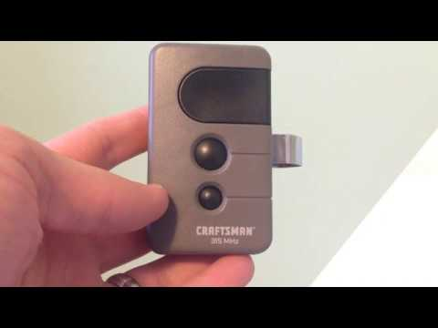 How To Change The Battery In Craftsman 315 Garage Door Opener Remote