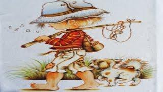 Pintura em tecido – O Menino Pescador e o Cãozinho