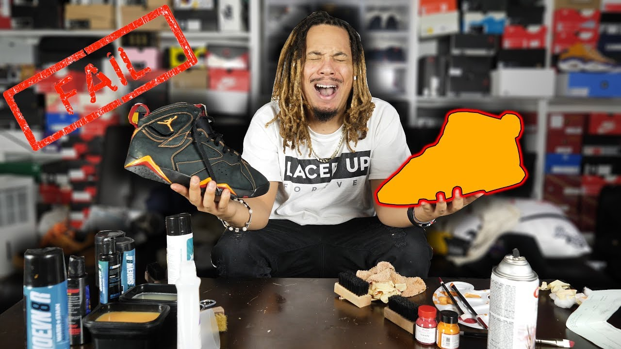 401ccb1722662 I Ruined Them !!! Jordan 7 Citrus Restoration Video (My First Time ...