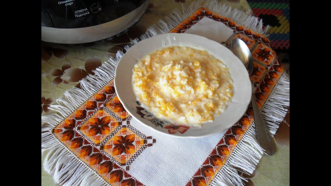 каша в мультиварке из тыквы с рисом и пшеном