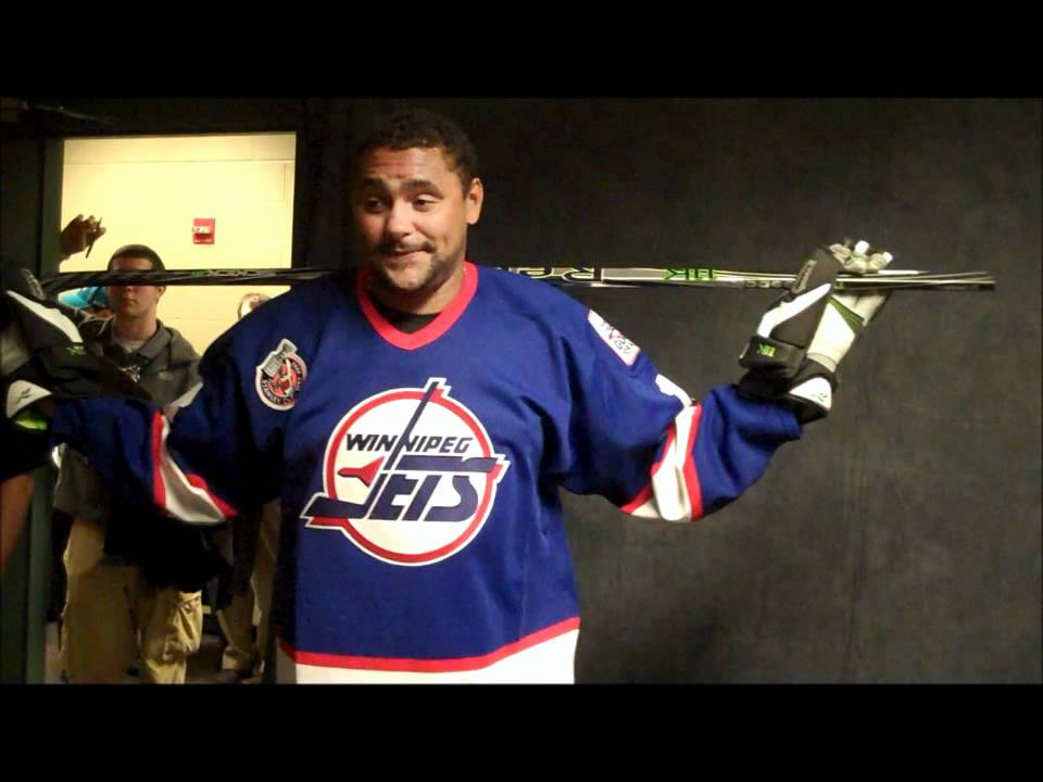 the latest 0b659 25753 NHL Star Dustin Byfuglien Dons Winnipeg Jets Sweater for the First Time