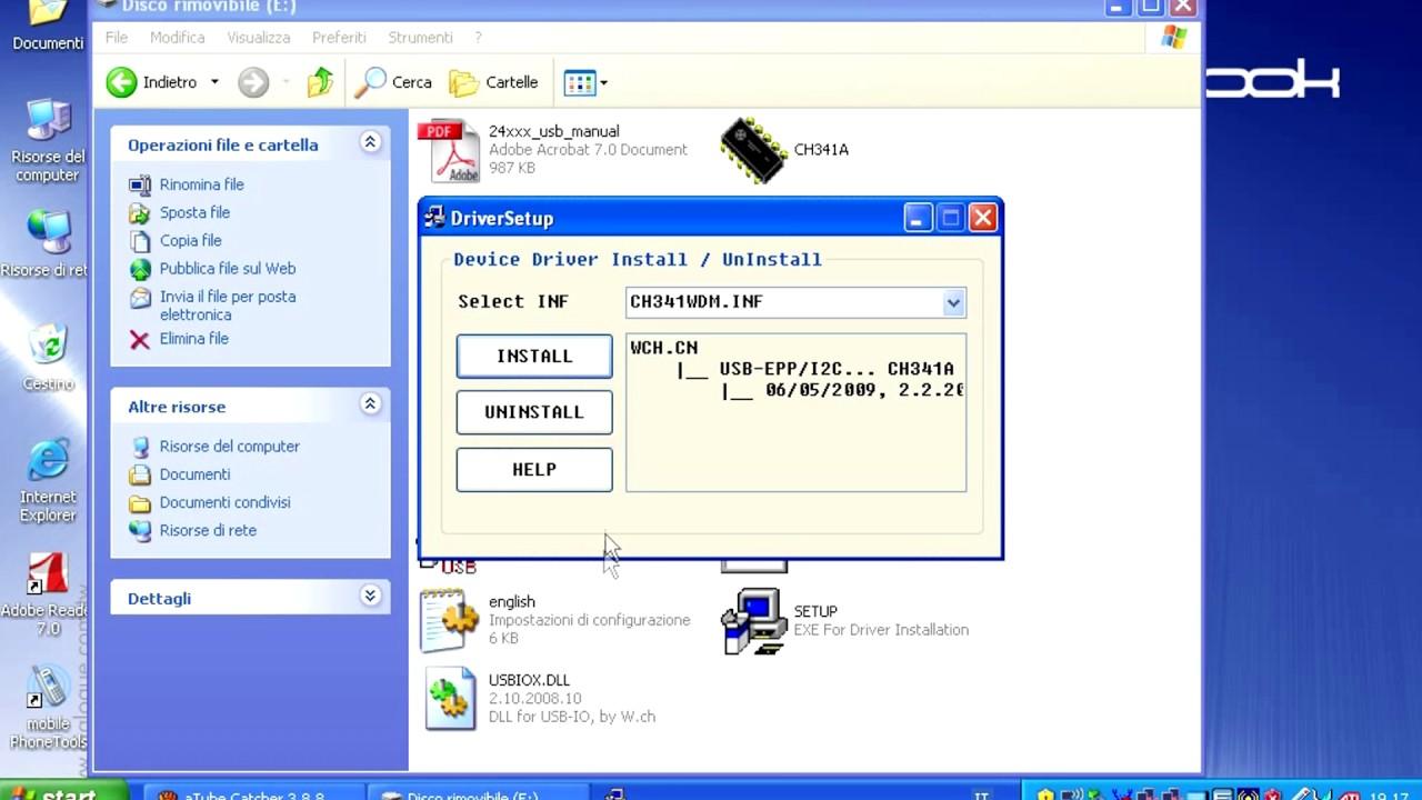 GUIDA - installare driver USB CH341A eeprom