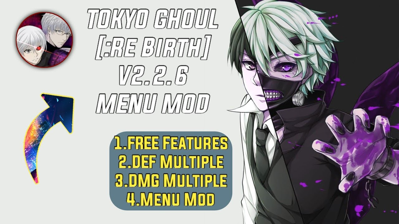 TOKYO GHOUL [:Re Birth] V2.2.6 MENU MOD #1