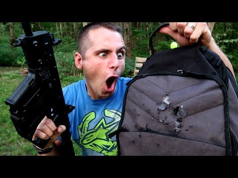 BULLETPROOF BACKPACKS? don't try this one!