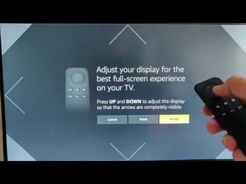 Fire TV Stick 4k - How to resize screen