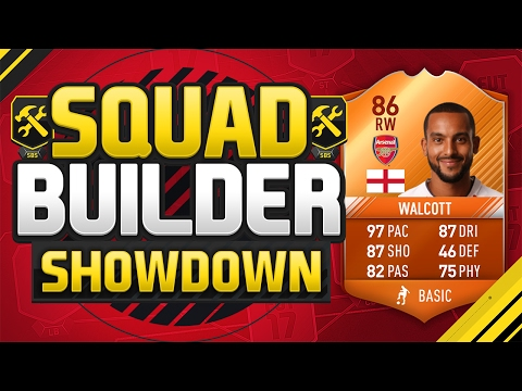 FIFA 17 SQUAD BUILDER SHOWDOWN!!! 97 PACED MOTM WALCOTT!!! The Sweatiest Player Of Fifa 17