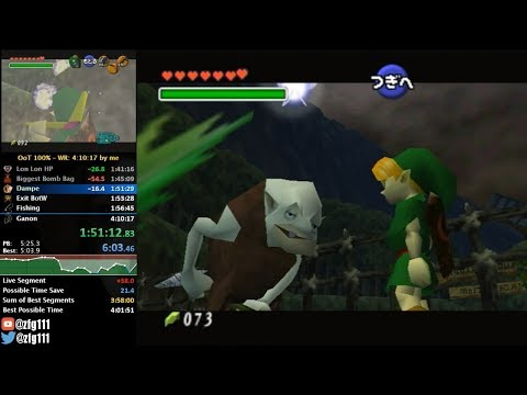 Ocarina of Time 100% Speedrun in 4:08:57