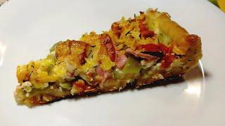Вкуснейшая Пицца с кабачками/Открытый пирог-Простой рецепт